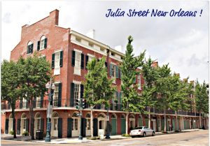 Photo of Julia St. in the Warehouse District of New Orleans