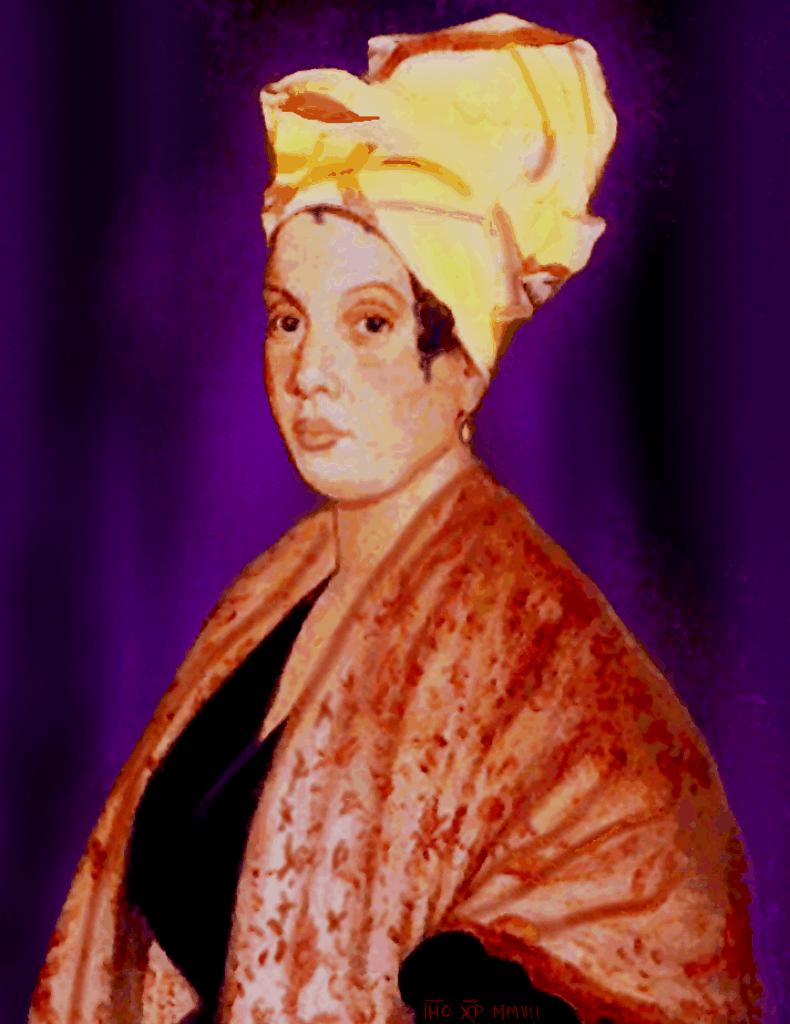 Portrait of Voodoo Queen Marie Lavaeu in New Orleans, La
