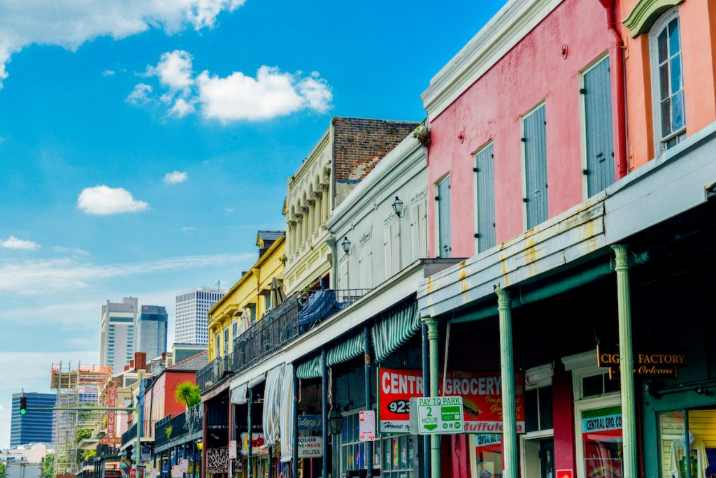 Various historic shops in New Orleans, LA