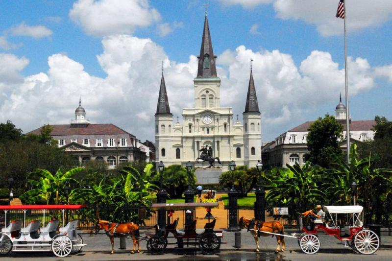 A photo of Jackson Square in New Orleans, LA