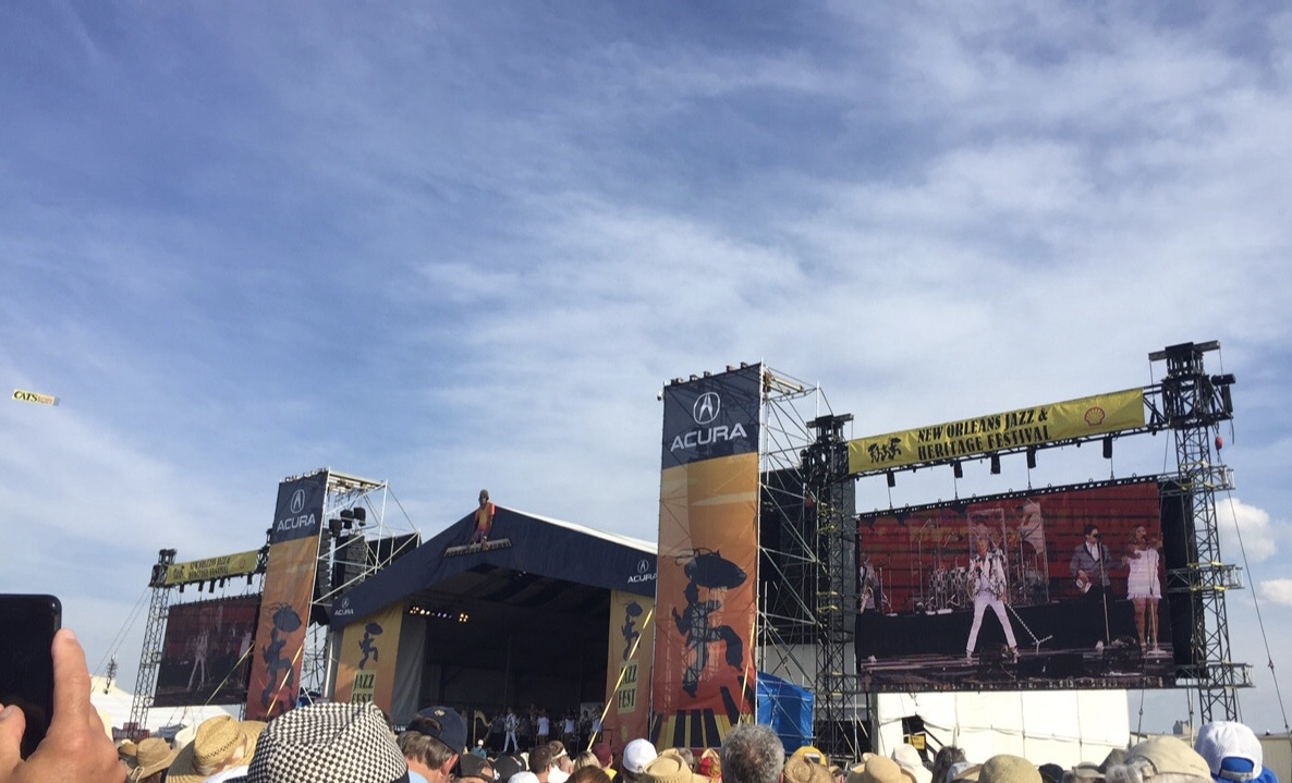A stage at New Orleans Jazz Fest