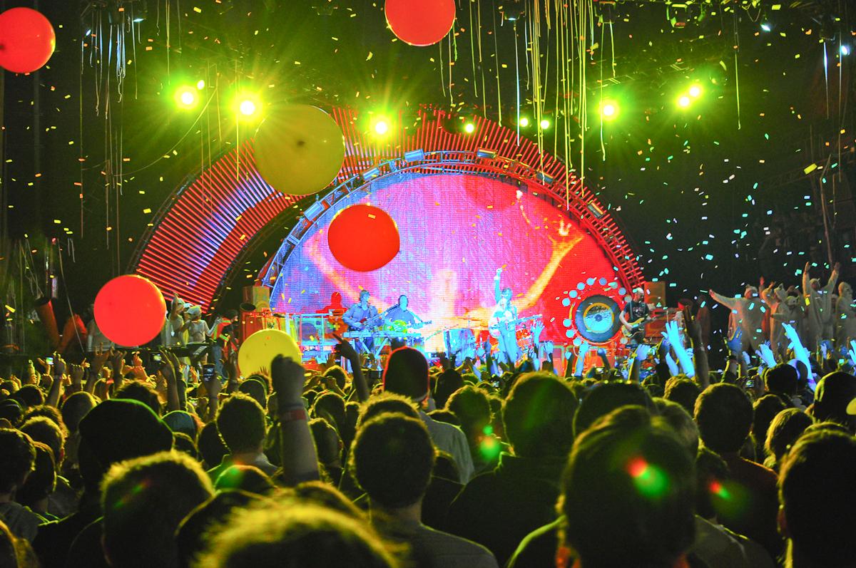 A concert venue at Voodoo Fest