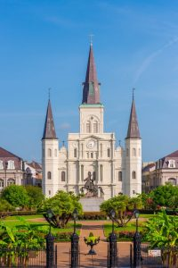 The St. Louis Cathedral in New Orleans, LA